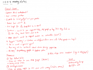 Notes after meeting w/ Sales team.