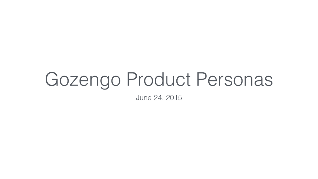 Gozengo Product Personas v4-1