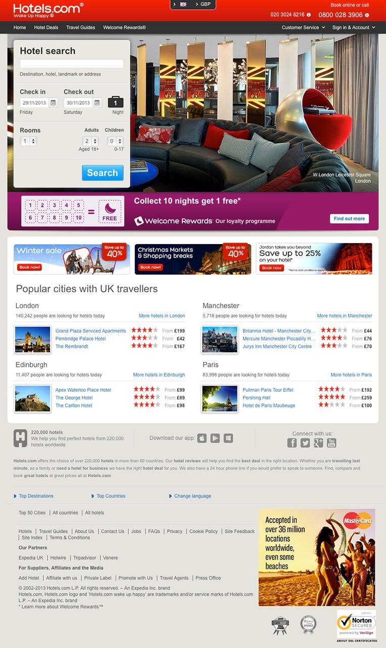 """Hotels.com UK """"After"""""""
