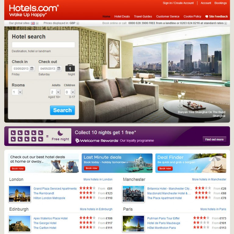 Hotels.com 2012